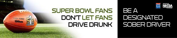 Celebrate the Super Bowl with responsible drinking!