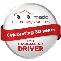 MADD designated driver red ribbon
